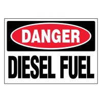 Ultra-Stick Signs - Danger Diesel Fuel