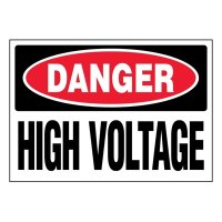 Ultra-Stick Signs - Danger High Voltage