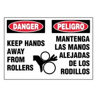 Ultra-Stick Signs - Danger Keep Hands Away (Bilingual)