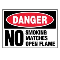 Ultra-Stick Signs - Danger No Smoking