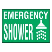 Ultra-Stick Signs - Emergency Shower