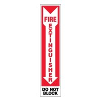 Ultra-Stick Signs - Fire Extinguisher Do Not Block