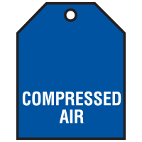 Compressed Air Vinyl Valve Indicator Tag