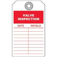 Valve Inspection Tag