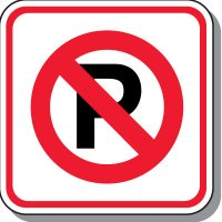 Visitor Parking Signs - No Parking Symbol