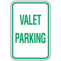 Visitor Parking Signs - Valet Parking