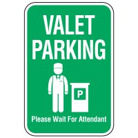 Visitor Parking Signs - Valet Parking Wait For Attendant