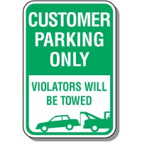 Visitor Parking Signs - Violators Will Be Towed