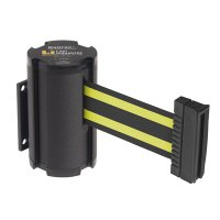 Beltrac® Wall-Mount Retractable Belts - Yellow/Black Belt