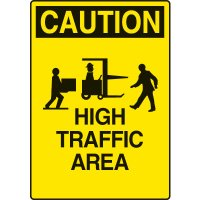 Warehouse Traffic Signs - Slow High Traffic Area