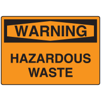 OSHA Warning Signs - Warning Hazardous Waste