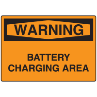OSHA Warning Signs - Battery Charging Area