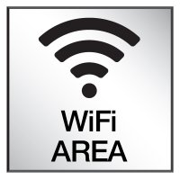 Wi-Fi Area - Engraved Wi-Fi Signs