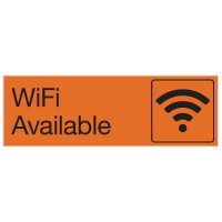 Wi-Fi Available - Engraved Graphic Room Signs