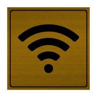 Wi-Fi Symbol - Engraved Graphic Symbol Signs