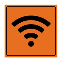 Wi-Fi Symbol - Engraved Graphic Symbol Signs