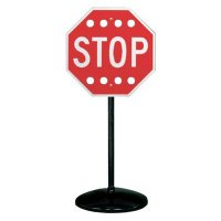 Wind-Resistant Stop Sign Stanchion