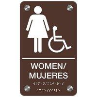 Bilingual Women's Restroom Sign - Women/Mujeres