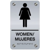 Women - Bilingual Premium ADA Restroom Signs