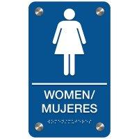 Women - Bilingual Premium ADA Restroom Signs