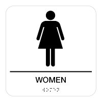 Women - Braille Restroom Signs