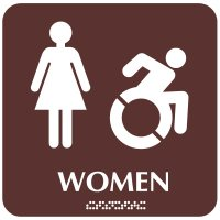 Women (Dynamic Accessibility) - Optima ADA Restroom Signs