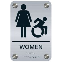 Women (Dynamic Accessibility) - Premium ADA Restroom Signs