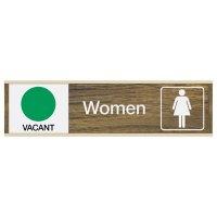 Women Vacant/Occupied - Engraved Restroom Sliders