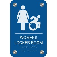 Women's Locker Room - Premium ADA Facility Signs