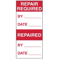 Write-On Action Labels - Repair Required