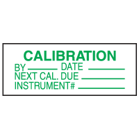 Calibration Instrument # Write On Labels