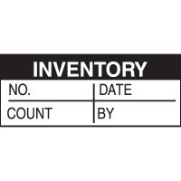 Write-On Labels - INVENTORY NO.