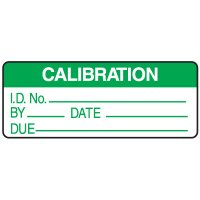 Calibration ID No. By Date Due Write On Labels On A Roll
