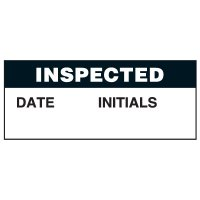 Write-On Status Roll Labels - Inspected Date ___ Initials ___
