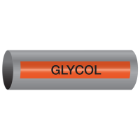 Xtreme-Code™ Self-Adhesive High Temperature Pipe Markers - Glycol