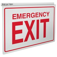 Emergency Exit - Drop Ceiling Double-Faced Signs