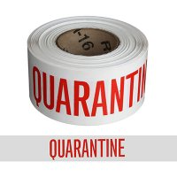 Quality Control Barricade Tape - Quarantine