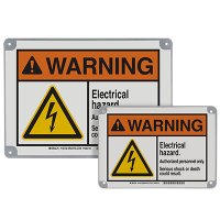 ToughWash® Encapsulated Signs - Warning Electrical Hazard