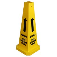Safety Traffic Cones - Danger Men Working Above