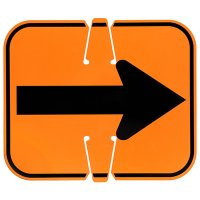 Plastic Traffic Cone Sign - Arrow