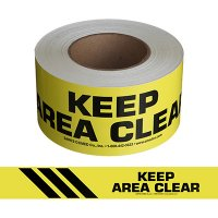 Keep Area Clear Message Tape Nadco 3X200-SAWT9