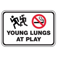 Young Lungs At Play - Playground Sign