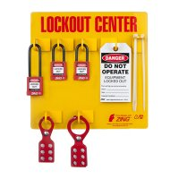 Zing® RecycLockout Lockout Tagout Station , 3 Padlocks