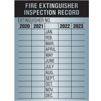 Fire Extinguisher Inspection Label