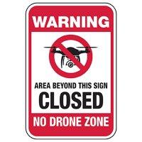No Drone Zone - Closed Behind Area