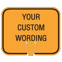 Custom Traffic Cone Signs