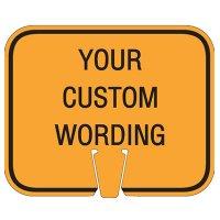 Custom Traffic Cone Signs