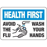 Avoid The Flu, Wash Your Hands Sign