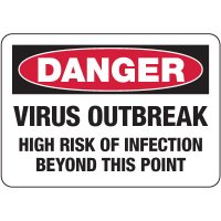 Danger Virus Outbreak, Risk Of Infection Sign