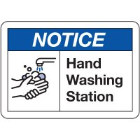 Notice Hand Washing Station Sign